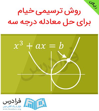 آموزش روش خیام برای حل معادله درجه سه